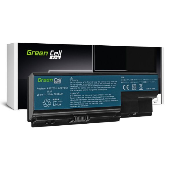 Green Cell akku Acer Aspire 5520 AS07B31 AS07B32 / 11,1V 5200mAh