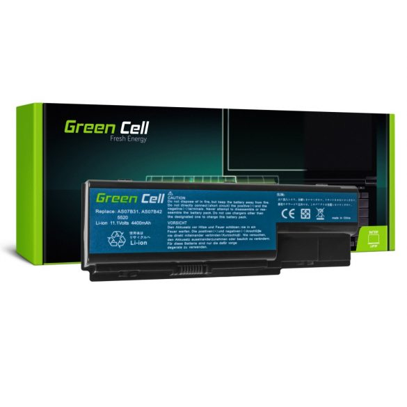 Green Cell akku Acer Aspire 5520  AS07B31 AS07B32 / 11,1V 4400mAh