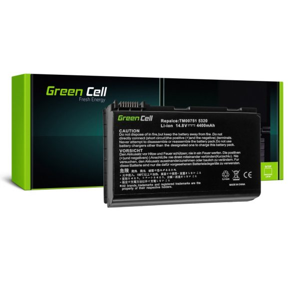Green Cell akku Acer TravelMate 5220  5520 5720 7520 7720 / 14,4V 4400mAh