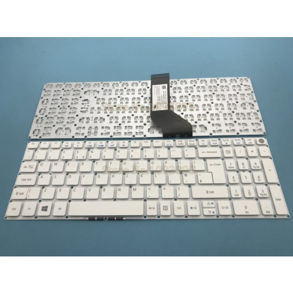 AC17 - klaviatúra angol UK, fehér (Aspire E5-522, E5-532, E5-574, E5-752, E5-772, E5-773)