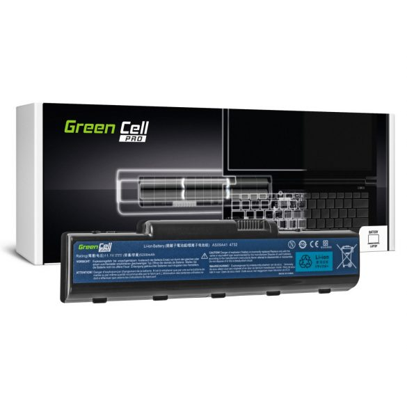 Green Cell battery for Acer Aspire  AS09A41 AS09A51 5532 5732Z 5734Z / 11,V  5200mAh