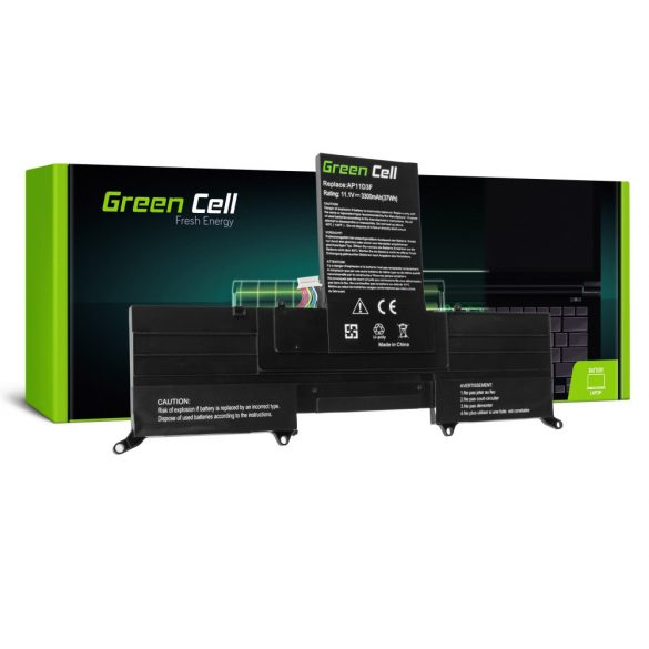 Green Cell akku Acer Aspire S3 / 11,1V  3300mAh