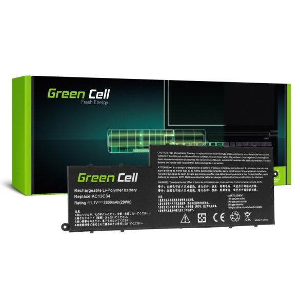 Green Cell akku Acer Aspire 5 A515 A517 R15 R5-571T Spin 3 SP315-51 SP513-51 Swift 3 SF314-52 AC14B3K