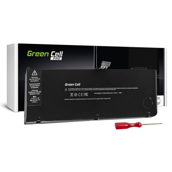 Green Cell PRO akku Apple Macbook Pro 15 A1286 2011-2012 / 10,95V 6700mAh