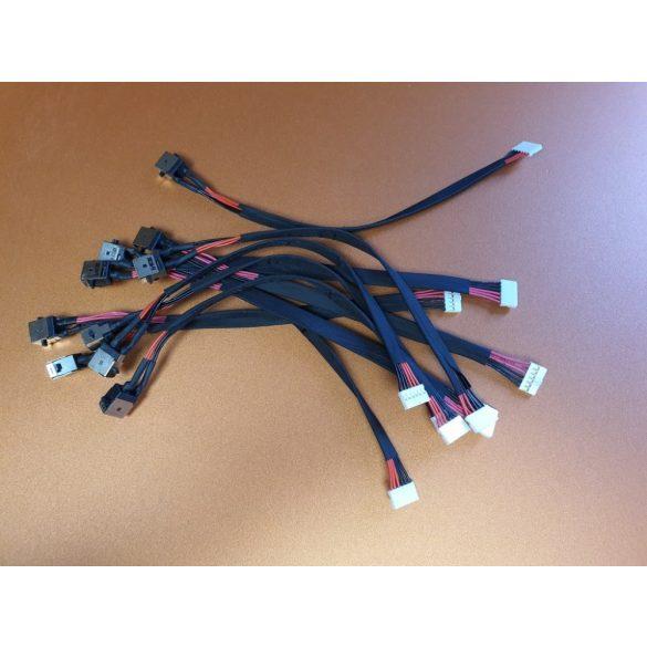 AS04 - DC aljzat vezetékkel Asus F751, K56C, K550C, R510C, S550C, S56C, X450CA, X550, X550C, X751