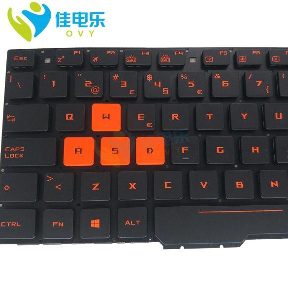 AS21 - klaviatúra portugál, világító fekete (Asus ROG GL553V, GL553V)