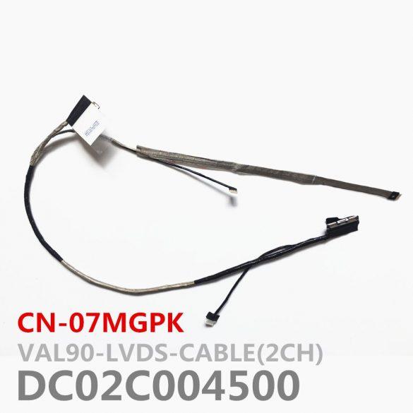 DE01 - Dell Latitude E6440 videó kábel LVDS 40 pin HD+ 07MGPK HD+ kijelzőkhöz is