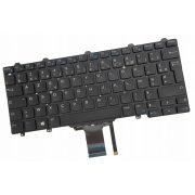 DE06 - klaviatúra  francia FR, fekete világító (Latitude E5250, E5270, E7250, E7270)