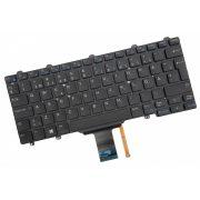 DE06 - klaviatúra  skandináv SKN, fekete világító (Latitude E5250, E5270, E7250, E7270)