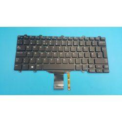 DE06 - klaviatúra angol UK, fekete világító (Latitude E5270, E7270)