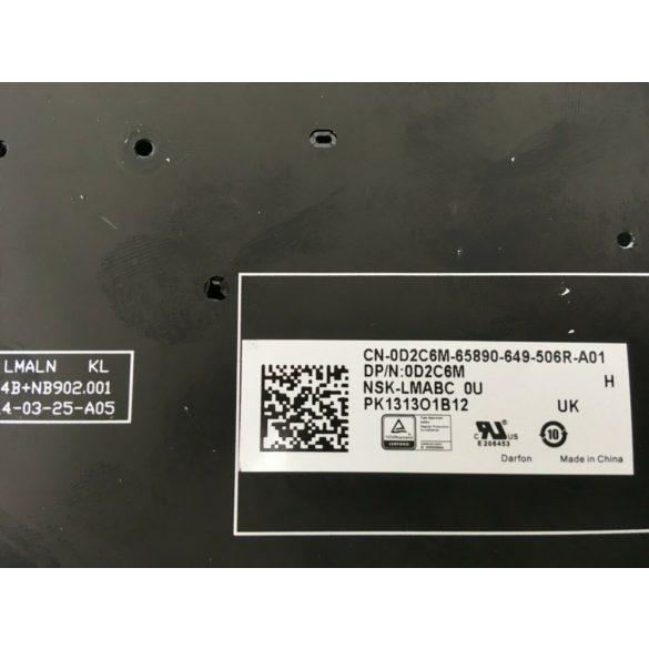 DE06 - klaviatúra angol UK, fekete világító (Latitude E5250, E5270, E7250, E7270)