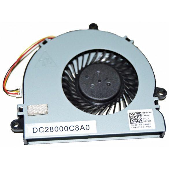 DE08 - CPU hűtő ventilátor Inspiron 15R 3521 3721 5521 5535 5537 5721 Vostro 2521 Latitude 3540