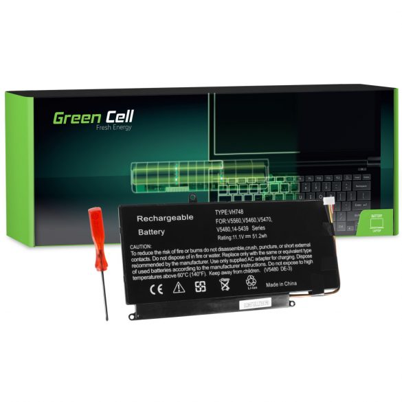 Green Cell akku Dell Vostro 5460  5470 5480 5560 / 11,1V 4600mAh