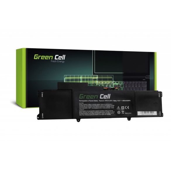 Green Cell akku Dell XPS 14 L421X /  14,4V 4600mAh