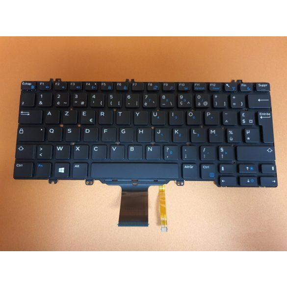 DE13 - klaviatúra francia FR, fekete világító (Latitude 5280, 5290, 7280, 7290, 7380, 7390 )