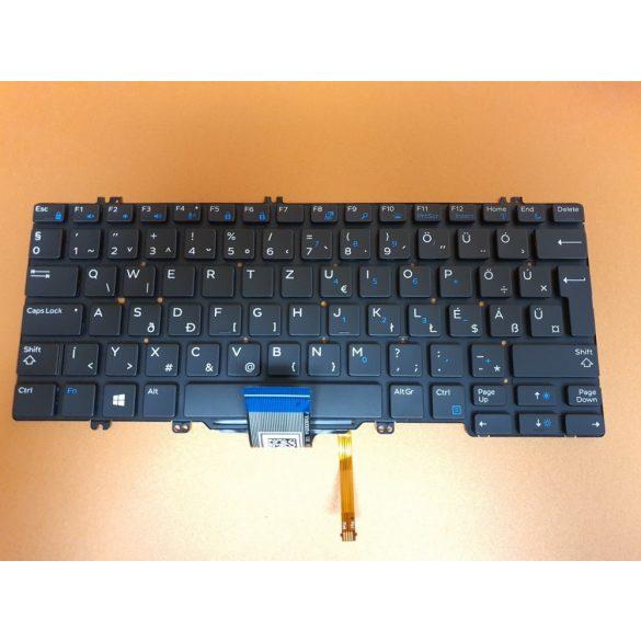 DE13 - klaviatúra magyar HUN, fekete világító (Latitude 5280, 5290, 7280, 7290, 7380, 7390 )
