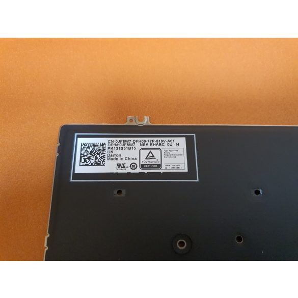 DE13 - klaviatúra angol UK, fekete világító (Latitude 5280, 5290, 7280, 7290, 7380, 7390 )