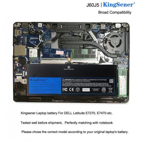 KingSener akku Dell Latitude E7270 E7470 7200mAh J60J5