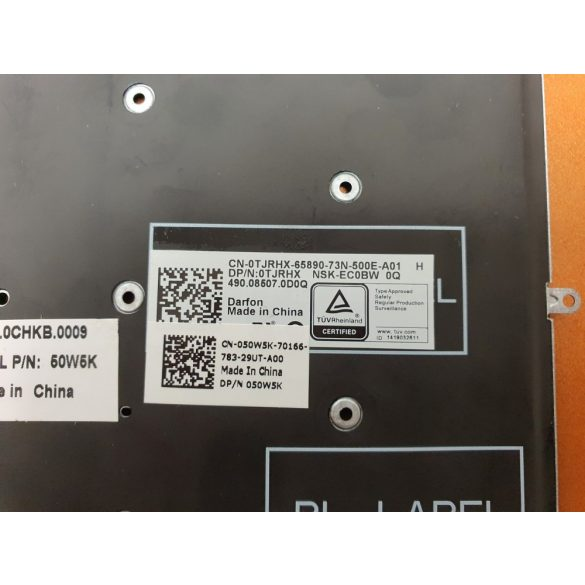 DE32 - klaviatúra magyar HU, fekete világító (Inspiron 5567, 7779, 7778 )