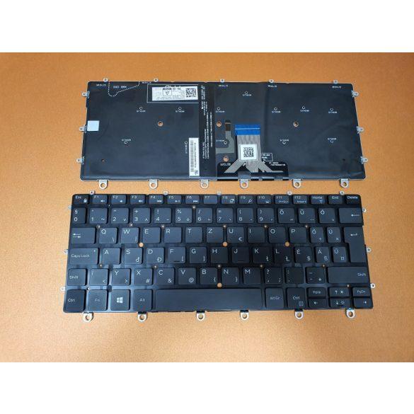 DE33 - klaviatúra magyar HU, fekete világító (XPS 13 9365 2in1)