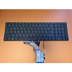 HP12 - klaviatúra magyar, fekete, zölden világító (Pavilion Sleekbook 15-CC000, 15-CD000, 15-CK000)
