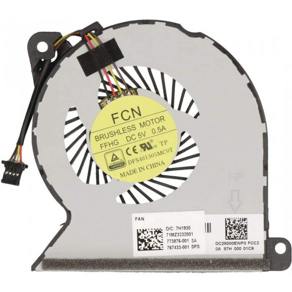 HP27 - CPU hűtő ventilátor HP Probook 440 G2, 445 G2, 450 G1, 450 G2, 455 G2, 470 G2