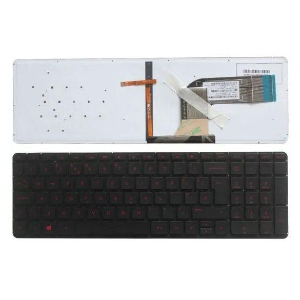 HP27 - klaviatúra angol UK, fekete, vilagító (Pavilion 15-K, 15-P, 15-T, 15-V, 15-Z, 17-F)