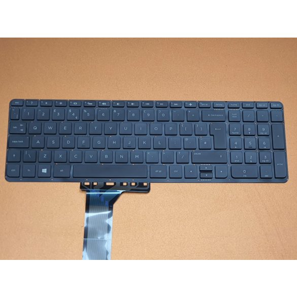 HP27 - klaviatúra angol UK, fekete, (Pavilion 15-K, 15-P, 15-T, 15-V, 15-Z, 17-F)