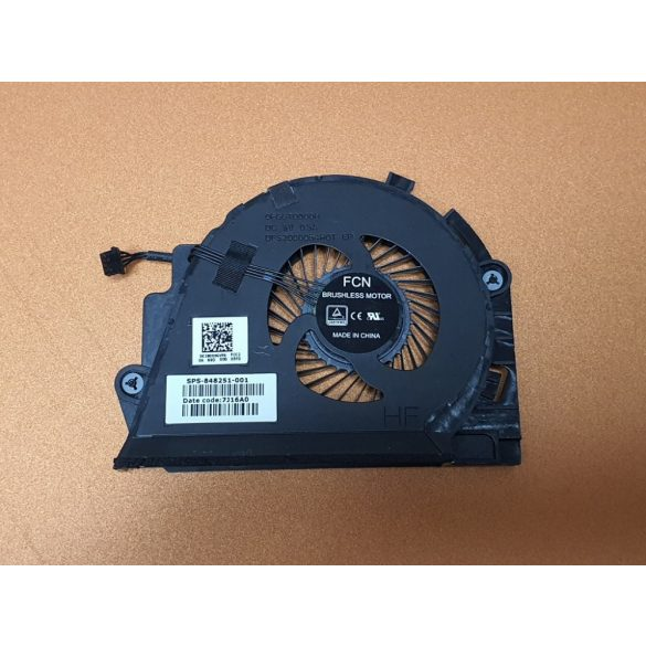 HP34A - CPU hűtő ventilátor Zbook 15 G3  ( 848251-001)