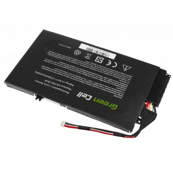 Green Cell akku HP Envy 4-1000 4-1100 4-1120EW 4-1120SW 4-1130EW 14.8V /14,4V 2700mAh
