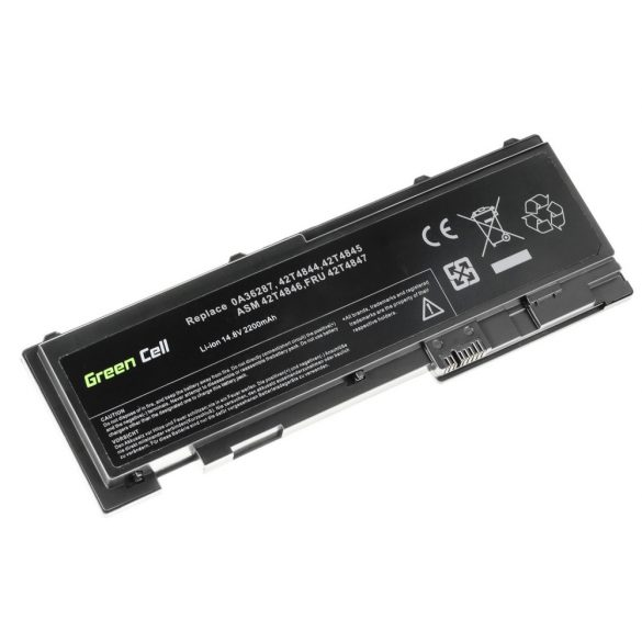 Green Cell akku Lenovo ThinkPad T420s T420si / 14,4V 2200mAh