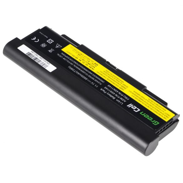 Green Cell akku Lenovo ThinkPad T440P T540P W540 W541 L440 L540 (rear) / 11,1V 6600mAh