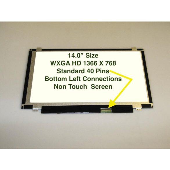 """LTN140AT20 Samsung LCD 14"""" SLIM HD 40 pin fényes"""