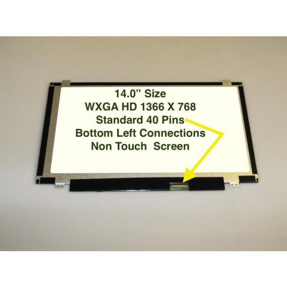 "LTN140AT20 Samsung LCD 14"" SLIM HD 40 pin matt"