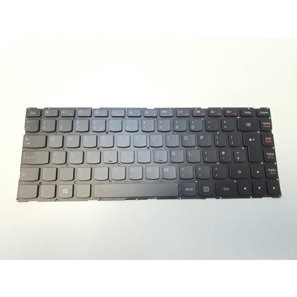 LV11 - klaviatúra angol UK, fekete, világító (Lenovo Yoga 500-14, IdeaPad 300S-14ISK 500S-14ISK)