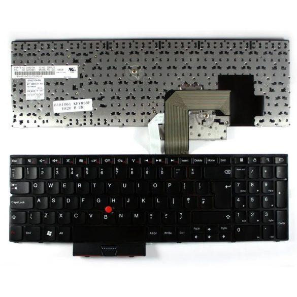 LV19 - klaviatúra ango UK, fekete (Lenovo Thinkpad Edge E520, E520S, E525)