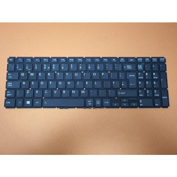 TB01 - laptop klaviatúra angol UK, fekete (Satelliet C50-C C50D-C C55-B C55D-B L50-B, L55-B, P50-W)